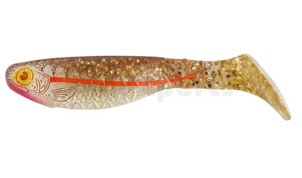 """000208077ZB Kopyto-Nature 3"""" (ca. 8,0 cm) klar gold Glitter / Zander braun / Bauch: weiß"""