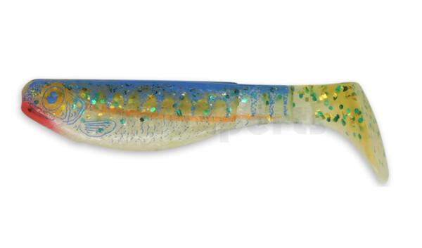 "000208-L516 Kopyto-Nature 3"" (ca. 8,0 cm) reinweiss-blauer Gl./Zanderbedruckung"