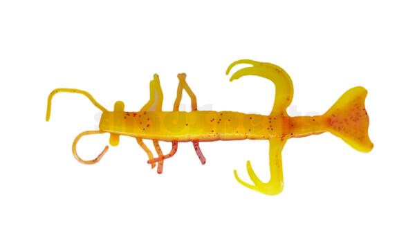 """002208B177 Shrimp 3"""" (ca. 8,0 cm) fluogelb / rot-rot Glitter"""