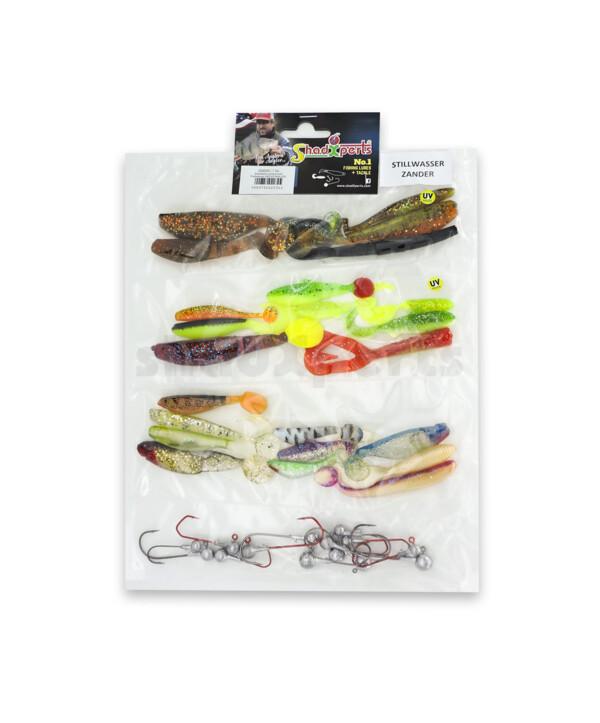 0006002 ShadXperts target fish set stillwater zander/perch - ca. 27 shads/14 jigs