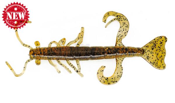 "002208218 Shrimp 3"" (ca. 8,0 cm) klar bernstein - schwarz Glitter"