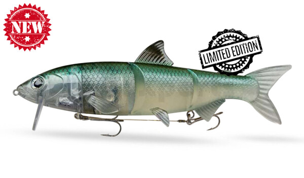 "HYRO25NG RenkyOne - Hybrid Fishing Lure 10"" (ca. 25 cm) slow sinking Night Ghost"