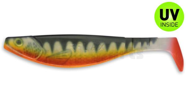 "000216-001ZORT Kopyto-River 6"" (ca. 16,0 cm) white / Zander / belly: orange / red tail"