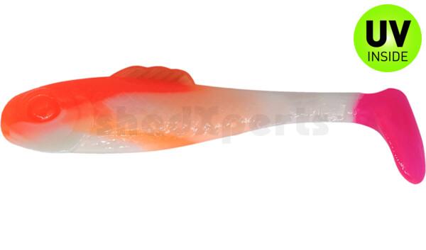 "003308B199PT Super Shad 3"" (ca. 8 cm) white / orange / pink tail"